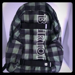 Burton backpack tile and black